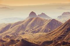 Montanhas Texas EUA de Chisos do parque nacional de curvatura grande imagem de stock