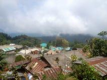 Montanhas verdes em Tailândia do norte fotos de stock
