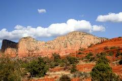 Montanhas vermelhas Fotos de Stock Royalty Free