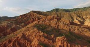 Montanhas vermelhas video estoque