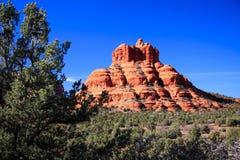 Montanhas vermelhas da rocha de Sedona o Arizona Fotos de Stock Royalty Free
