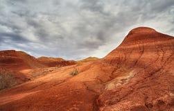 Montanhas vermelhas do deserto fotos de stock