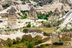 Montanhas vulcânicas no parque nacional de Goreme Cappadocia Foto de Stock Royalty Free