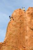 Montanhista da rocha Imagem de Stock