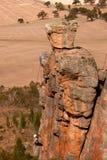 Montanhista da rocha em Mt Arapiles Fotografia de Stock