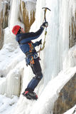 Montanhista de gelo Foto de Stock Royalty Free