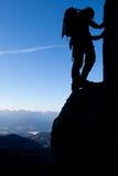 Montanhista de montanha Imagem de Stock Royalty Free