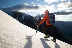 Montanhista de montanha Fotografia de Stock