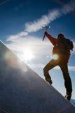 Montanhista de montanha Fotos de Stock