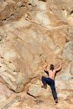 Montanhista de montanha Foto de Stock