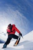Montanhista de montanha Foto de Stock Royalty Free