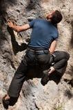Montanhista de rocha imagem de stock