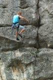 Montanhista de rocha Foto de Stock Royalty Free