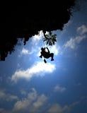 Montanhista Tailândia da rocha imagens de stock royalty free