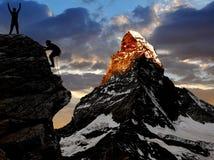 Montanhistas Imagens de Stock Royalty Free