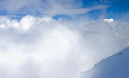 Montanhistas alpinos Foto de Stock