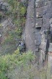 Montanhistas de rocha Fotografia de Stock