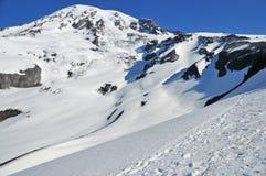 Montanhistas no Monte Rainier Foto de Stock Royalty Free