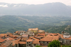 Montano Antilia en Cilento, Italia Fotos de archivo