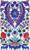 montant islamique de modèle floral de tuile de patchwork photographie stock libre de droits