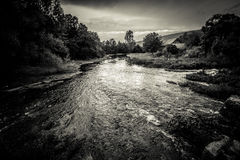 Montante do rio Gacka Fotografia de Stock Royalty Free