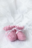 Montantes cor-de-rosa do bebê Fotografia de Stock Royalty Free