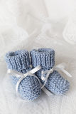 Montantes do bebê azul Imagem de Stock