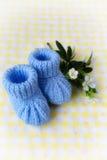 Montantes do bebê azul Fotografia de Stock