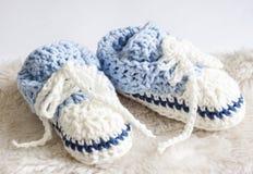 Montantes do bebê azul Foto de Stock Royalty Free