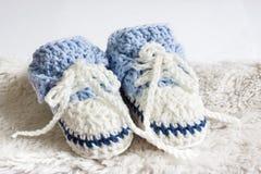 Montantes do bebê azul Imagem de Stock Royalty Free