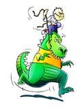 Montar a caballo de Dino Imagen de archivo libre de regalías