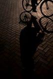 Montar a caballo de la bici Imagenes de archivo