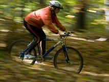 Montar a caballo de la bici del otoño imagen de archivo