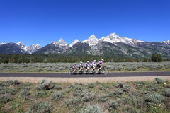 Montar a caballo de la bicicleta Imagen de archivo