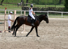 Montar a caballo de la muchacha Foto de archivo libre de regalías