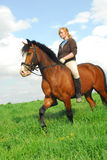 Montar a caballo de lomo de caballo Imágenes de archivo libres de regalías