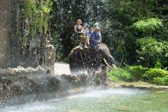 Montar a caballo del elefante Fotografía de archivo libre de regalías