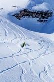 Montar a caballo del esquiador Fotografía de archivo
