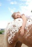 Montar a caballo del potro Foto de archivo libre de regalías