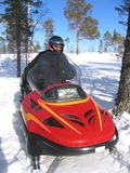 Montar a caballo del Snowmobile Foto de archivo libre de regalías