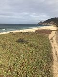 Montara state beach california state barrels in the inside bowls stock image
