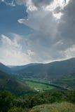 Montardit de Baix valley river Noguera Pallaresa royalty free stock photography