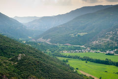 Montardit de Baix valley river Noguera Pallaresa Royalty Free Stock Photography