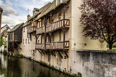 Montargis, France. Montargis is a commune in the Loiret department in north-central France on the Loing river Royalty Free Stock Images