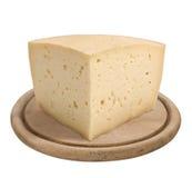 Montasio, Italiaanse kaas Stock Afbeeldingen