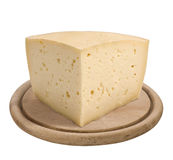 Montasio, Italian cheese Stock Images