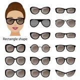 Montature per occhiali e fronte di rettangolo Immagine Stock