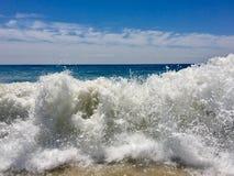 Montauk海洋海浪 库存图片