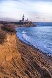 Montauk点光,灯塔,长岛,纽约,萨福克 库存照片
