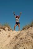 在Montauk,长岛纽约,美国的海滩天 库存照片